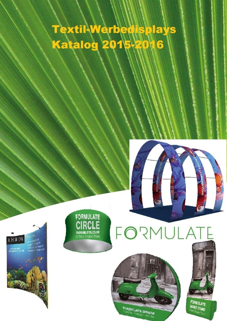 Textil Werbedisplays Katalog 2015-2016