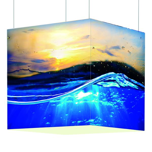 OCTALumina günstig kaufen. Deckenhänger mit interner LED Beleuchtung und hochwertigem Sublimationsdruck