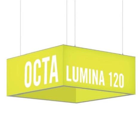 OCTALumina Deckenhänger mit LED Beleuchtung, komplett mit Textildruck, günstig